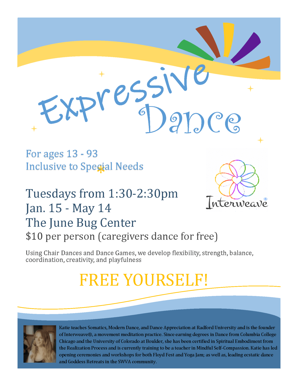 Expressive Dance @ The June Bug Center in Floyd