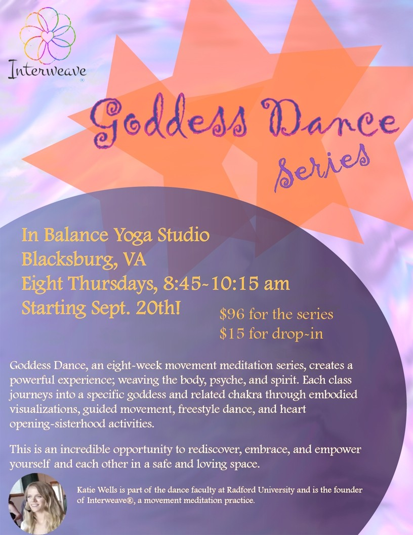 Goddess Dance Series – Blacksburg, VA