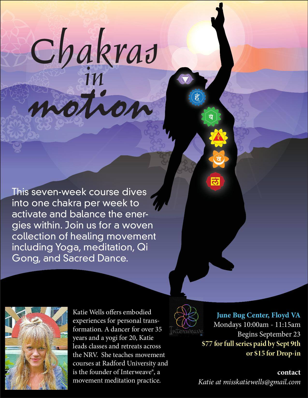Chakras in Motion at The June Bug Center in Floyd