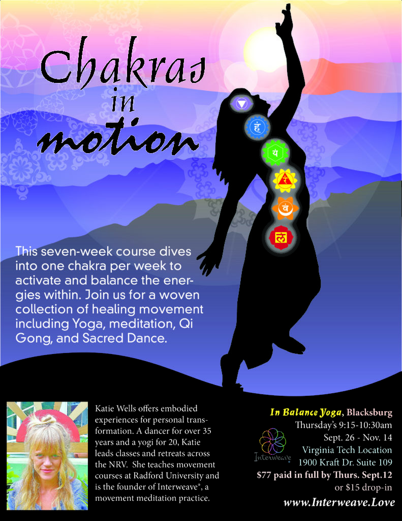 Chakras in Motion at In Balance Studio, Blacksburg