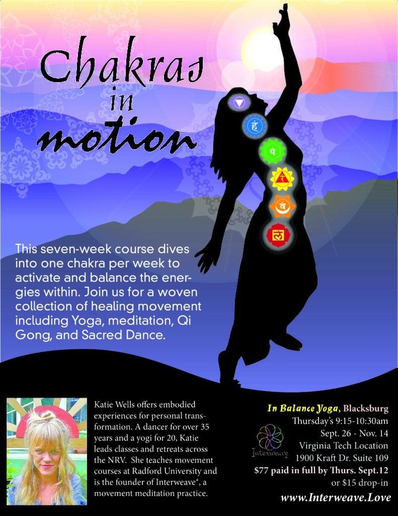 Chakras in Motion at In Balance Studio, Blacksburg